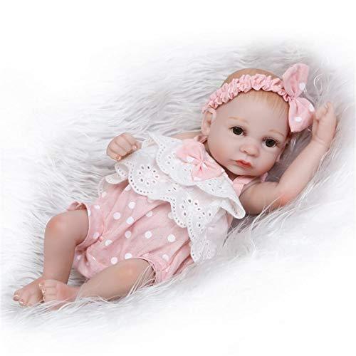 HWZZ Silikonpuppe Puppe Mit Kleidung Simulationsmädchen 30Cm Silikon Spielzeug Geschenk Geeignet Für Kinder Besten Begleiter,Rosa