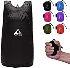 PLAY-KING 20l Packable Backpack Small Hiking Lightweight Foldable Backpack Kid Daypack for Women Men Travel Outdoor Bag Pack