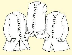 "1750's - 1770's Waistcoat Pattern (44"" Chest)"