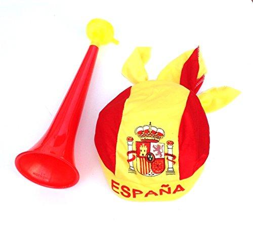 HC enterprise Trompeta + pañuelo de Gorro para fútbol Baloncesto y Mucho más
