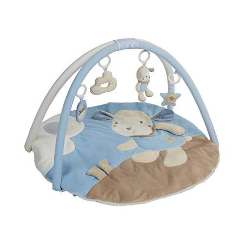 solini Tapis d'éveil 3D avec arceaux de jeu, bleu ciel - mouton