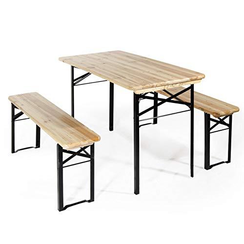 BRIGROS La voglia di fare Tavolo Giardino Legno Esterno BIRRERIA con 2 PANCHE Tavolo da Giardino panchina da Esterno Set birreria Tavolo panche 120x60