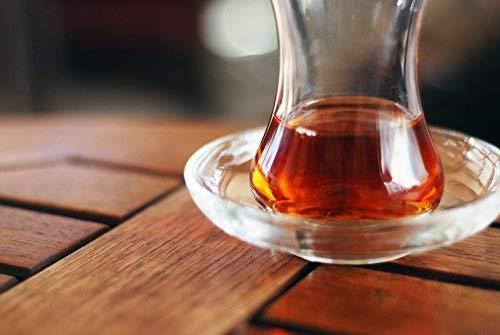 Topkapi - 6er Set Tee-Untersetzer für Türkische Teegläser Teeglas Zeynep Rund, Ø 10,2 cm, 6 Stück, Transparent, 200.204
