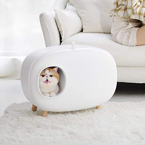 CYT Katzen Toiletten Katzenklo Bei Spritzwassergeschütztes Wiederverwendbare Katzentoilette leicht zu reinigen Zubehör for Katzen desodorierende