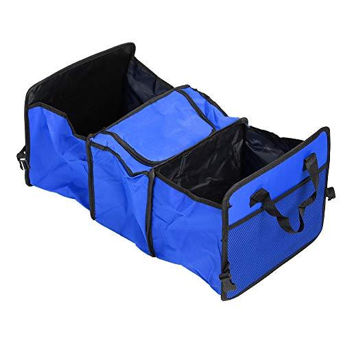 Nicoone Soporte Plegable para Organizador de Maletero de Coche Caja de Almacenamiento Más Fresca con Aislamiento Oxford Bolsa de Almacenamiento para Maletero Azul