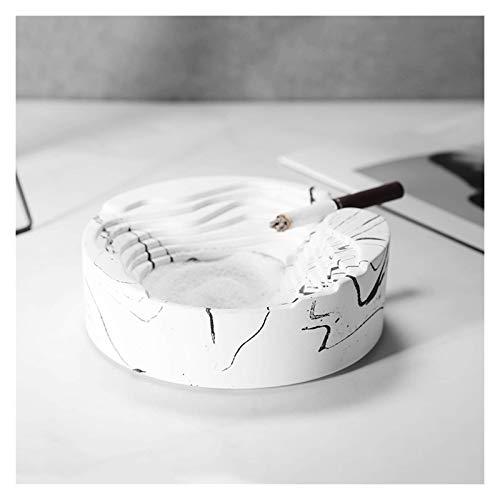 Este es un cenicero con una mano de obra exquisita Inicio Cenicero Cenicero Forma geométrica Home Sala de estar Bar Oficina Simple concreto Cenicero puede ser utilizado como regalo para amigos, padres