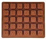 BlueFox Silikonform mit Buchstaben, Pralinenform, Schokoladenform, Gießform, Schokoladen...