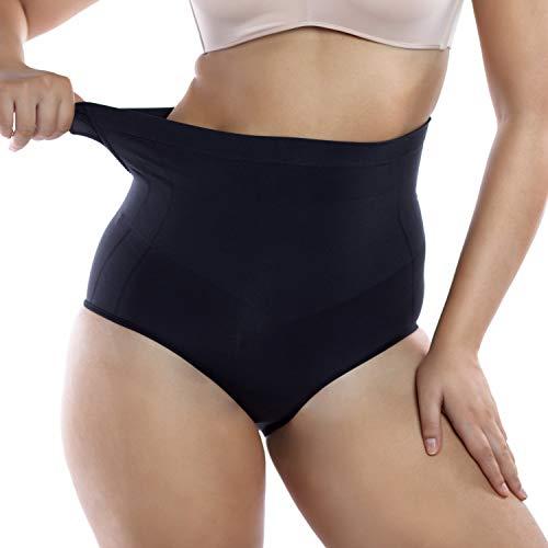 +MD Body Shaper Shorts para Mujer Bragas Fajas sin Costuras Control de Barriga Butt Lifter Panty Negro Large