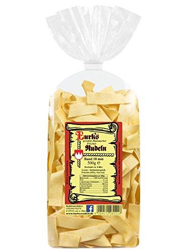 Burk's gewalzte Pappardelle Bandnudeln - 18 mm Pasta mit Ei (500 g)