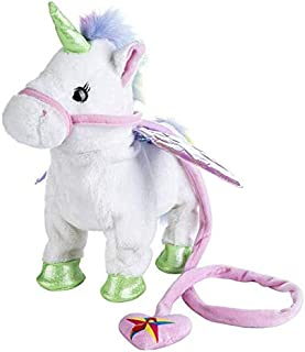 35cm Electric Walking Unicorn Plush Toy Animal Stuffed Animal Toy Electronic Music Unicorn Toy for Children Christmas Gifts