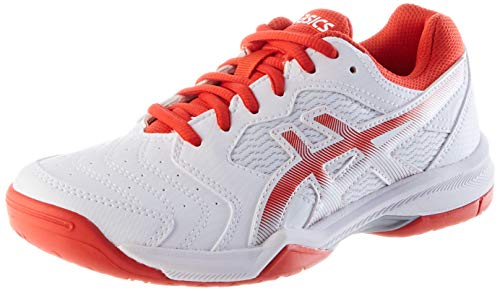 ASICS Gel-Dedicate 6, Scarpe da Tennis Donna, Bianco (White Fiery Red), 41.5 EU