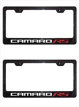 Lavnox Carbon Fiber Metal Camaro RS License Plate Frame Tag Holder Mount for Chevy Camaro  2