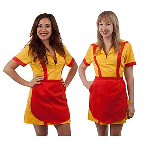 2 Broke Girls Max and Caroline Diner Waitress Costume (Large/X-Large)