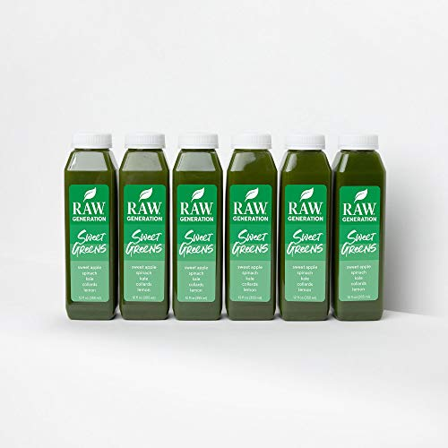 Raw Generation Sweet Greens Juice - High Protein Green Juice / Healthiest Way to Lose Weight & Stay Strong / 18 Count