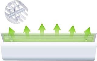 Aire acondicionado deflector de viento Parabrisas Central Universal Ajustable Blanco, A Prueba De Viento, Temperatura Ambiente De Equilibrio (Size : 60CM)