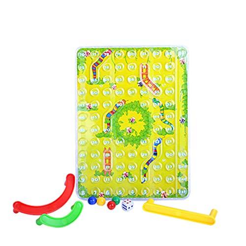 Kongqiabona-UK Mini Juego de Escritorio Snake Toy Juego de Inteligencia Trapezoidal Snake and Ladder 3D Toy Interacción Padre-Hijo