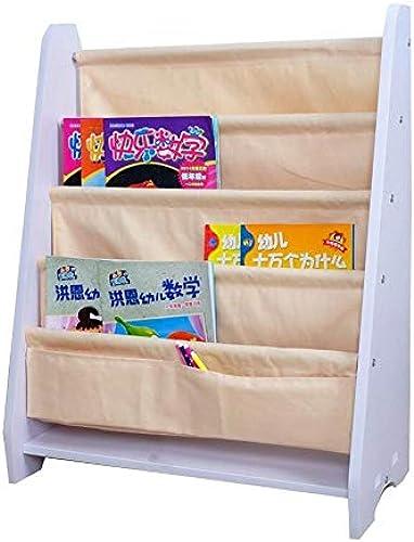 Dore Home Kinderbücherregal Baby Sling Bücherregal Bilderbuch Spielzeugablage Leinwand Abnehmbar Und Waschbar (Farbe   D)