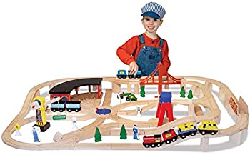 130-Pieces Melissa & Doug Wooden Railway Set
