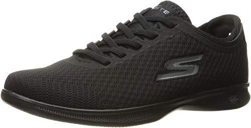 Skechers Women's Go Step Lite Dashi Walking Shoe,Black Mesh,9 M US