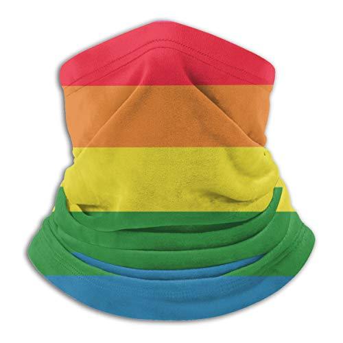 ASE Bufanda de cuello Bandana Bufanda facial para hombres Mujeres Polvo Actividades al aire libre A prueba de viento Ultravioleta, Gay Rainbow