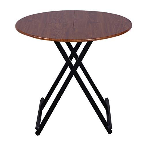 ZHAOSHUNLI Table Pliante Accueil Table multifonctionnelle Simple multifonctionnelle Table Ronde (Color : Brown, Size : 78cm in Diameter)