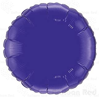 18 Inch Helium Foil Mylar Balloons (Premium Quality), Pack of 6, Round - Purple