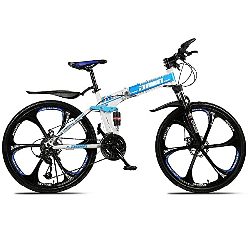 21/24/27/30 Speed Double Shock Absorber One Wheel Folding High Carbon Steel Double Disc Brake Bicycle 26 Inch Full Suspension Mountain Bike