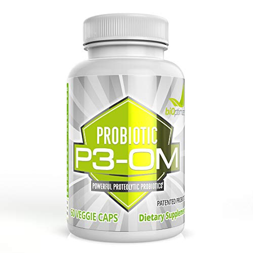 P3-OM - Probiotic and Prebiotic Supplement - Contains Lactobacillus Plantarum OM - Provides Immune Support - Bloating and Gas Relief - Improves Gut Health - 60 Capsules