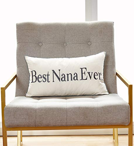 "Sanmetex Thanksgiving Day Best Nana Ever Gift Ideas for Grandma Birthday Gift Cotton Blend Lumbar Decorative Throw Pillow Case Cushion Cover 12"" x 20"" (30CM X 50CM) Grey…"