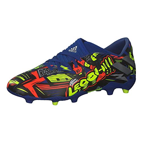 adidas Unisex-Child Nemeziz Messi 19.3 Soccer Shoe, ROYBLU/SILVMT/SYELLO, 38 EU