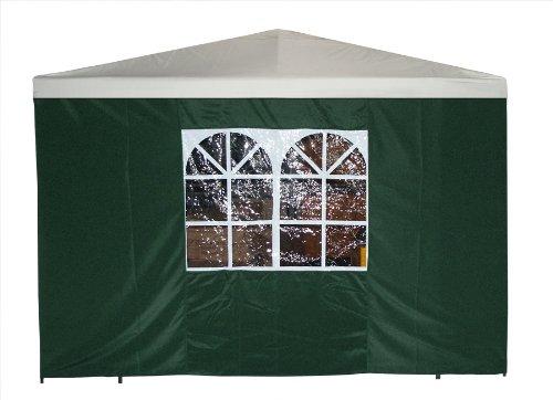 DEGAMO Seitenteil für Pavillon 3x3 Meter mit Fenster, grün