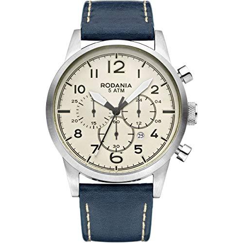 Rodania Reloj Hombre Cuarzo Coast Hombres Strap con Correa Piel Azul de diámetro 4mm 2627921