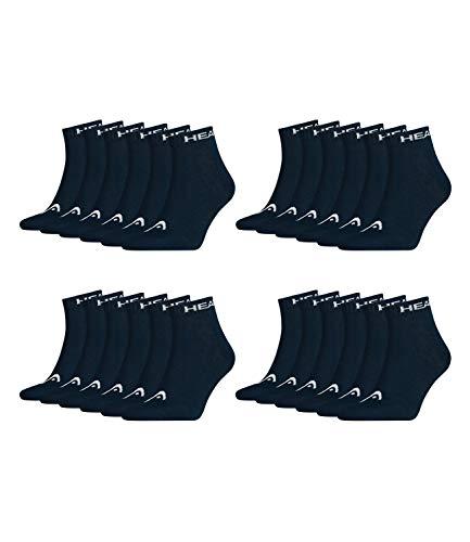 HEAD Unisex Quarter Sportsocken 12er Pack, Größe:43/46, Farbe:Navy (321)
