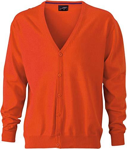 JN660 Damencardigan Strickjacke Damen Cardigan V-Neck XXL,Dark Orange