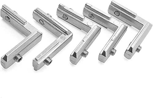 Buena estabilidad Accesorios de impresoras 10 unids T-slot L-Forma L-Forma 2020 Perfil de aluminio Esquina interna para conector J-OINT SOPORTE PARA EL PERFIL DE 2020 A-LU con Tornillo M4 Accesorios d