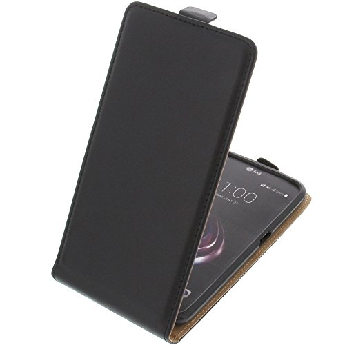 foto-kontor Tasche für LG X Venture Smartphone Flipstyle Schutz Hülle schwarz