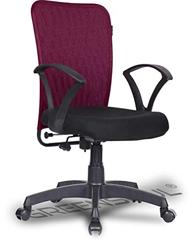 Green Soul® Seoul Mid Back Office/Study Chair with 4 Color Options and Breathable Mesh (Confident Maroon)