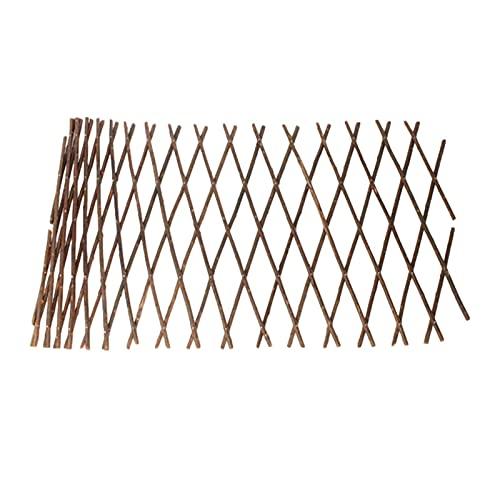 LAMPTTI Treliça de jardim expansível suporte para plantas de treliça de madeira jardim parede cerca de salgueiro painel de cerca de treliça para treliça de videira e pepinos Clematis