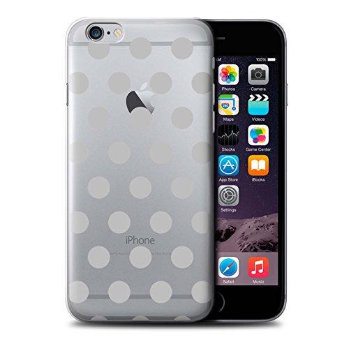 Custodia/Cover/Caso/Cassa Rigide/Prottetiva STUFF4 stampata con il disegno Punteggiato Pois per Apple iPhone 6+/Plus 5.5 - Argento