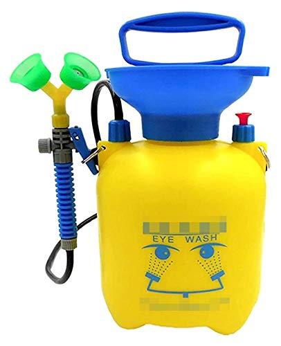 Estación Lavaojos portátil de pequeño tamaño de emergencia, Caja ojos Aclarar pulverizador, con doble boquilla y la válvula de alivio de presión, Escuela Laboratorio de Química fácil de operar