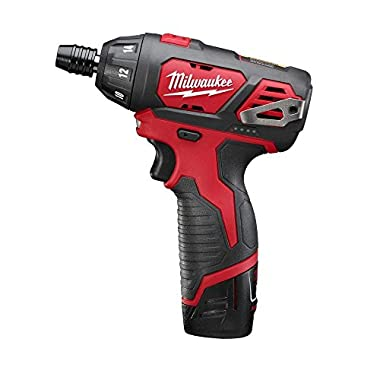 Milwaukee M12 12-Volt Lithium-Ion 1/4 in. Hex Cordless Screwdriver Kit | Hardware Power Tools for Your Carpentry Workshop, Machine Shop, Construction or Jobsite Needs