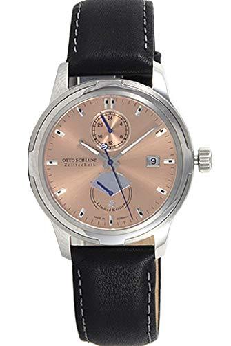 OTTO SCHLUND Zeittechnik Herren-Armbanduhr TRAVITA Analog Automatik 01843 (Rosegold)