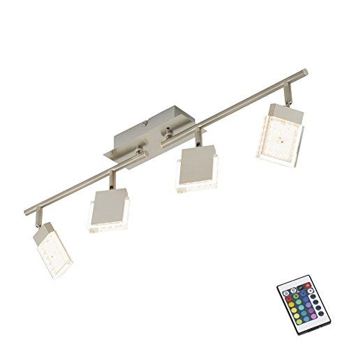 Briloner Leuchten 2530-042 LED Deckenstrahler / Deckenspot, RGB Farbsteuerung/Farbwechsel mit Fernbedienung, dimmbar