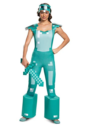 Women's Minecraft Armor Adult Costume,