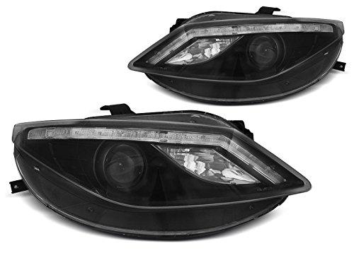 Koplampen Seat Ibiza 6J 08-12 Daylight LED zwart (E34)