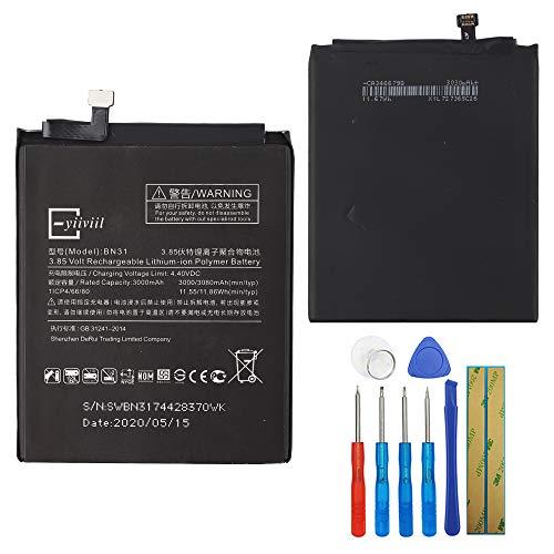 Nueva batería de repuesto BN31 compatible con Xiaomi 5X Mi 5X Mi A1 Note 5A 3000 mAh 11.55wh con herramientas