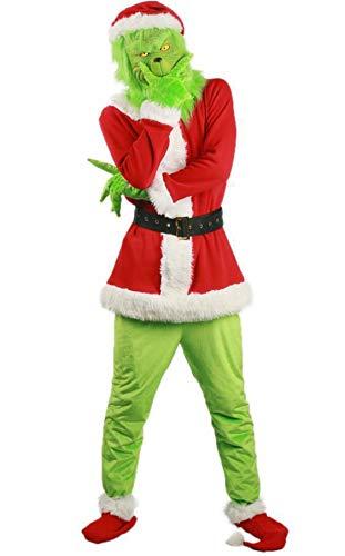 LVYE1 MRMF Disfraz Navidad Fiesta Halloween Disfraz Divertido/Monstruo Verde Ropa Grinch,M