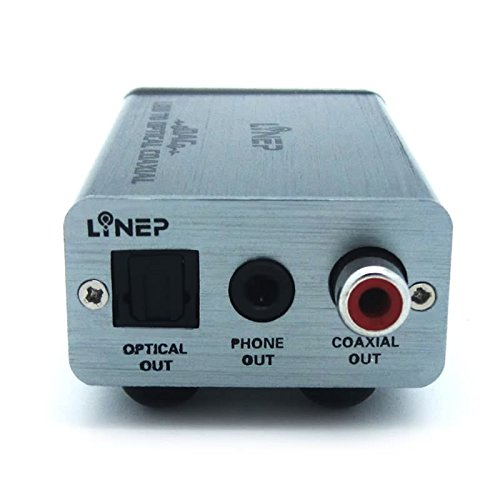 Julyfox USB DAC Headphone Audio Amplifier USB to Optical Coxial Phone Out for HiFi Audio Output