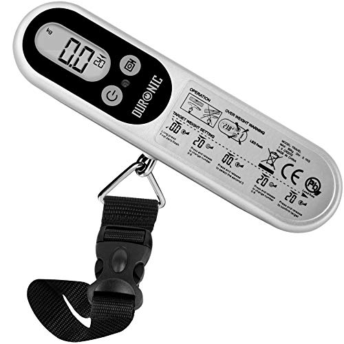 Duronic Digital Luggage Scales (Silver) LS1014   50kg Capacity  ...
