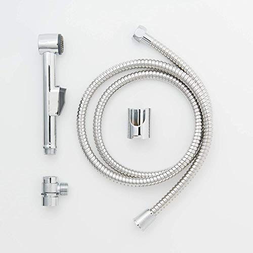 Waschbeckenbrause | Duschkopf | Friseurdusche | Bidet Handbrause | WC-Dusche inkl. Schlauch und Adapter | Handbrause Duschkopf mit Stoppfunktion | Inkl. Wandhalterung für Brause